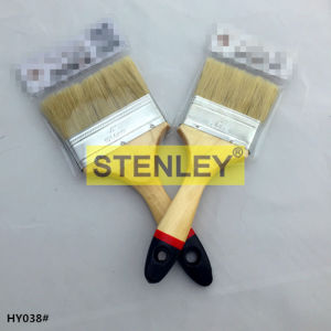 Paint Brush Wooden Handle Bristles