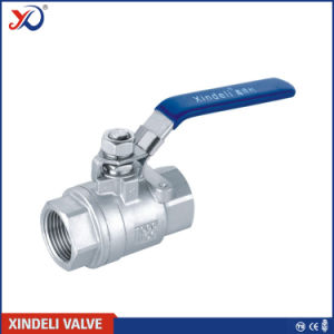 Stainless Steel Factory 2PC Threaded End Ball Valve with Locking Device pictures & photos
