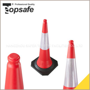 1m 5kg Rubber Base Close Top Traffic Cone pictures & photos