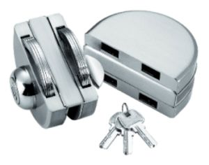 Zinc Alloy Glass Door Lock (FS-212) pictures & photos