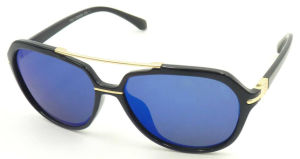 F17119 Wholesale New Year Sunglass, Metal Bridge Unisex Sunglass pictures & photos