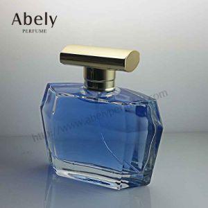 100ml Unique Shaped Blue Glass Perfume Bottle pictures & photos