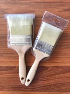 White Bristle Mixed Filaments Paint Brush with Wooden Handle pictures & photos