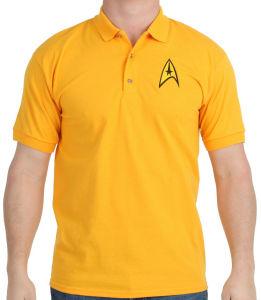 2017 Star Trek Gold Polo Shirt (A181)