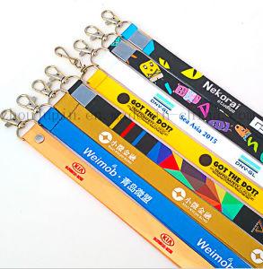 Custom Logo Polyester Exhibition Work Permit Neck Ribbon Strap Lanyard pictures & photos