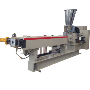 Plastic Recycling Pelletizing Line/Twin Screw Extruder for HDPE Flakes