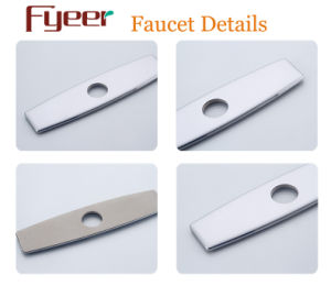 Baseboard Baseplate of Chrome Wash Basin Faucet Kitchen Water Mixer Tap Fitting pictures & photos