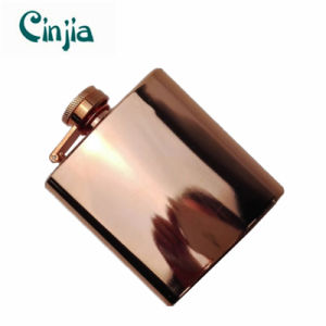 New 6oz Cupreous Stainless Steel Wine Flask pictures & photos