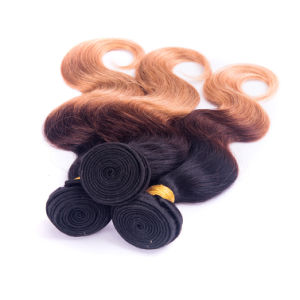 Peruvian Human Hair Body Wave Ombre Color pictures & photos