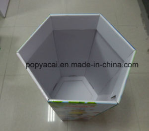 Hexagon Cardboard Floor Display Dump Bin Box for Toys pictures & photos