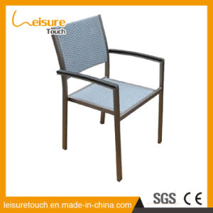 Outdoor Garden Dining Room Stool Wicker Restaurant Chairs Aluminum Rattan Cafe Terrace Chair pictures & photos