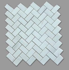 Best Sale White Herringbone Mosaic Floor Marble Tiles pictures & photos
