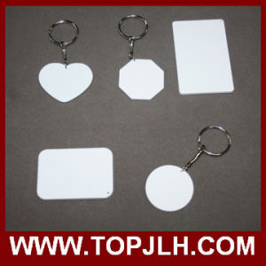 Both Sides Printable Sublimation 3D Polymer Key Chain
