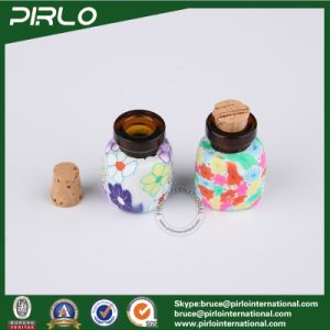 2ml Amber Glass Bottle with Polymer Clay Surface Small Mini Perfume Glass Vial with Cork Stopper pictures & photos