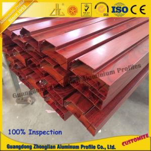 Powder Coating Wood Grain Aluminium Profile Aluminum Extruded Profile pictures & photos