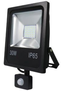 Rectangular Slim 30W LED Floodlightdie-Casting Aluminium Body Tempered Glasses with Flat PIR Sensor pictures & photos