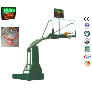 Adjustable Height Electric Hydraulic Durable Polyurethane Padding Basketball Backboard  Systems pictures & photos