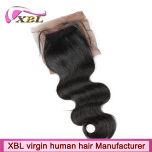 Extemely Real Human Hair Cambodian Silk Base Closure pictures & photos