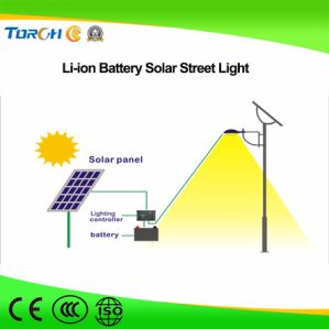 40W Quality LED Solar Street Light Manufacturer MPPT Li-ion Battery Fast Charging pictures & photos