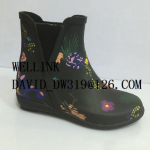 Women′s Fashion Style Colourful Rubber Rainboots