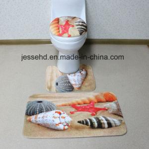 Anti-Slip and Washable New Design Custom Printed 3 Piece Bathroom Rug Set pictures & photos