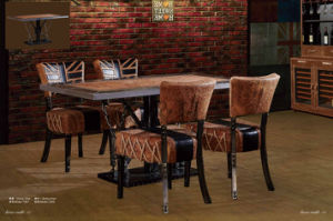 Leather Decorative Dining Table Set pictures & photos