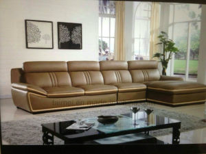 Good Selling American Modern L Shape Sectional Genuine Leather Sofa (Corner sofa) pictures & photos