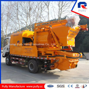 Mobile Truck Mounted Concrete Pump with Js500 Mixer pictures & photos