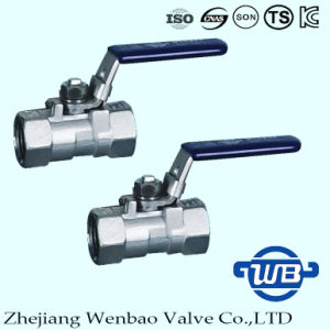 3PC Stainless Steel Female Thread Ball Valve with Lock pictures & photos
