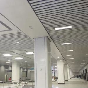 Modern Design Aluminum Suspened Roll Formed Baffle Ceiling with ISO pictures & photos