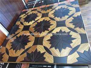 Padauk & Ebony Medallion Wood Parquet Flooring pictures & photos