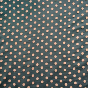 Burn out Discharge Printed Silk Opal in Pop Dots pictures & photos