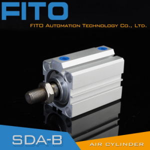 Sda40*16 Compact Double Acting/Single Acting Pneumatic Air Cylinder 12mm - 100mm pictures & photos