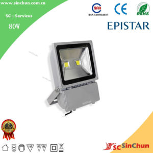 AC85-265V CE&RoHS Certificate LED Outdoor Spotlight LED Flood Lamp LED Floodlight 80W
