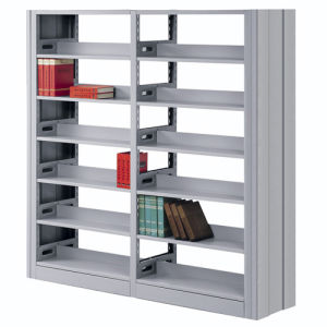 Library Bookshelf Double Sides Single Pole pictures & photos