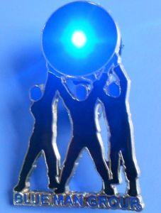 Blue Man Group Flashing Metal LED Light Pin Badge (AS-EX-B002) pictures & photos