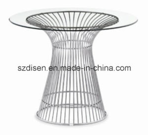 Modern Luxury Stainless Steel with Tempered Glass Dining Table (DS-T36) pictures & photos
