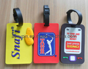 Golf 3D Soft PVC Luggage Tag (AS-CZ-PL-06020035) pictures & photos
