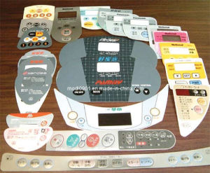 PC Overlay Plastic Printing Label PP Faceplate PC Sticker Printing Escutcheon pictures & photos