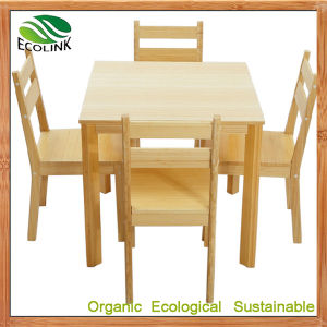 Bamboo Dining Table and Chair Set pictures & photos