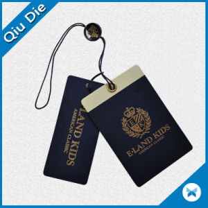 UV Printed Paper Garment /Clothing Hang Tag with Matching String Attachments pictures & photos