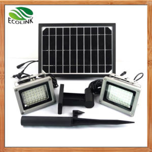 Solar Power Dual Outdoor LED Floodlight for Garden pictures & photos