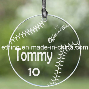 Personalized Sport Glass Souvenir Gift for Christmas Tree Ornaments pictures & photos