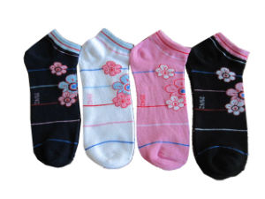 Lady Cotton Jacquard Boat Socks (LADY-072)