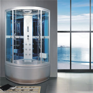 Chinese Corner Complete Sliding Luxury Steam Shower Cabin Tub pictures & photos