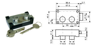 Safe Lock, Bank Safekeeping Lock, Two Head Lock Al-125b-3 pictures & photos