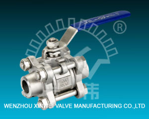 Three-Piece Model Stainless Steel Welding Ball Valve pictures & photos