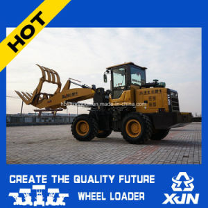 Log Grapple Loader 1.5ton Rated Load Wheel Loader with Ce Grapple Fork pictures & photos