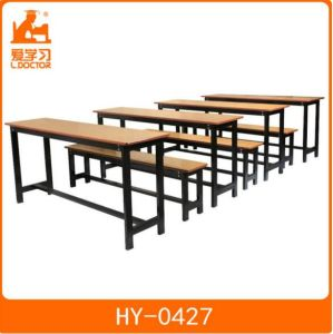 Double Chair and Table of School Furniture for Sale pictures & photos