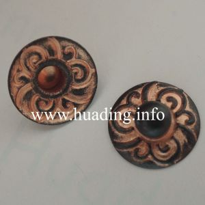 9.5mm Fashion Brass Rivet with Pattern for Garments (RV00427) pictures & photos